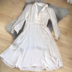 Vintage Sheer Cream Dress
